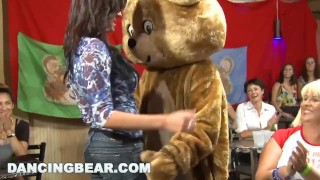 DANCING BEAR - Bunch Of Crazy Bitches Sucking Dick At Wild CFNM Party!