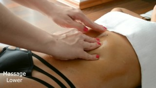 Sexy HOT TEEN - Sensual Massage of Belly - Romantic Massage RooM - Amateur