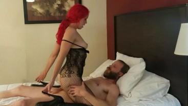 Amateur MILF lingerie fuck and facial