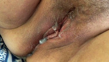 Intense moaning orgasm for bbw wife. We both cum quick and I pump her full