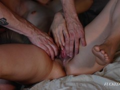 STEP SISTER CAUGHT MASTURBATING MADE TO SQUIRT ALL OVER! - Fucked Couple