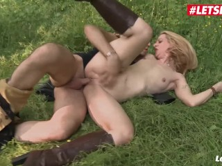 Sex Sex Photo Fucking, LETSDOEIT- Hot Blonde French MILF ass Fucked In The Forest Blonde Hardcore Pu