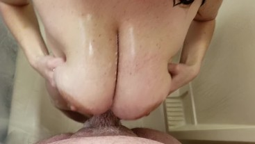 Kacie's Soapy Shower Tittyfuck POV