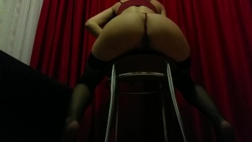 Brunette fucked on chair and couch (part 2)