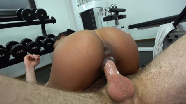 Gay san diego gym Giving kira noir a creampie at the gym