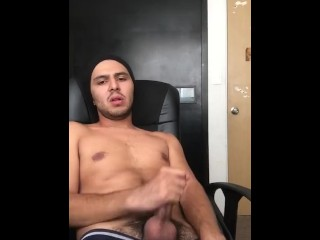 Young Handsome Boy Masturbates While Watching Porn