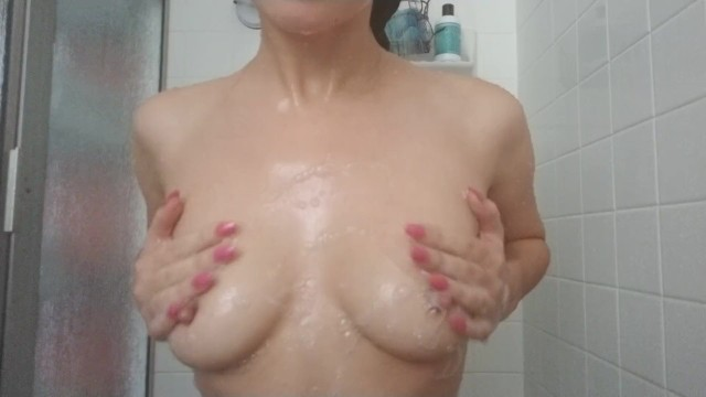 I love being in the shower, wet, warm, happy, and soapy