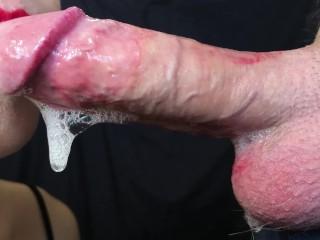 DEEP SLOPPY SLOBBERY BLOWJOB 4K 60FPS ! Cum in mouth Yummy