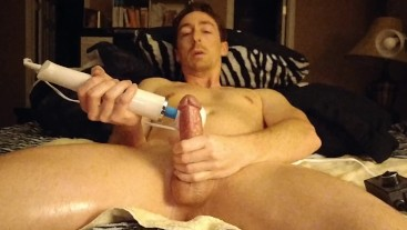 Using the Hitachi Wand On My Dick Covered In Oil Part 1 Vegaslife486