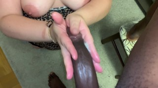 Monster cock: his stepbrothers cock is bigger I worked him and let him drill me