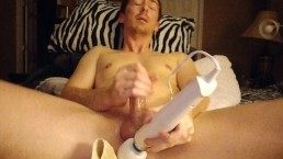 Using the Hitachi Wand On My Dick Covered In Oil Part 3 Vegaslife486