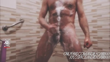wet hot showing in shower for fans
