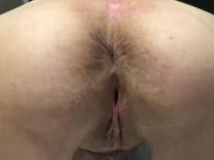 Removing big butt plug from 60 year old wife milf gilf granny mature anal