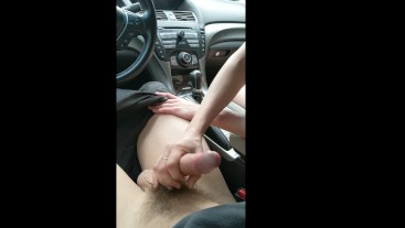Horny young slut pays for ride with her tight pussy! Drips on console.