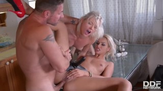 Young Zazie Skymm humiliated by hot Serbian domina Cherry Kiss & her hubby