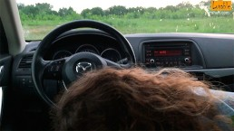 Risky blowjob in a car with amazing massive cumshot