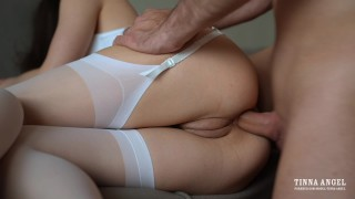 Petite Babe Takes It In Her Tight Ass