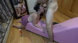 Choking on Daddys Big Cock