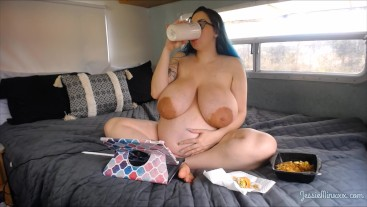 Pregnant Ignore Nude Eating