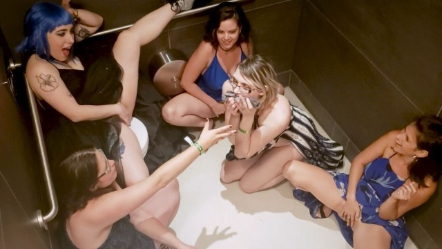 Girls squirting in public