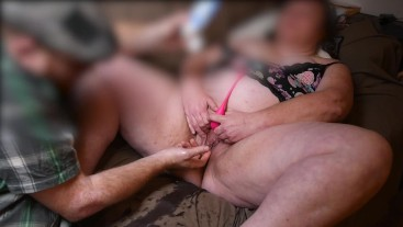 DIRTY MILF STEP MOM SQUIRTS & GUSHES WHILE BEING FINGERED BY STEP SON