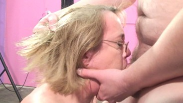 Housewife Gets Mouth Fucked by Mistake
