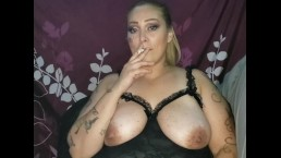 Sexy Latina smokes sucks fucks to cum in mouth and facial