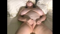 Totally Naked Wife Masturbating & Cumming for her Husband & Friend