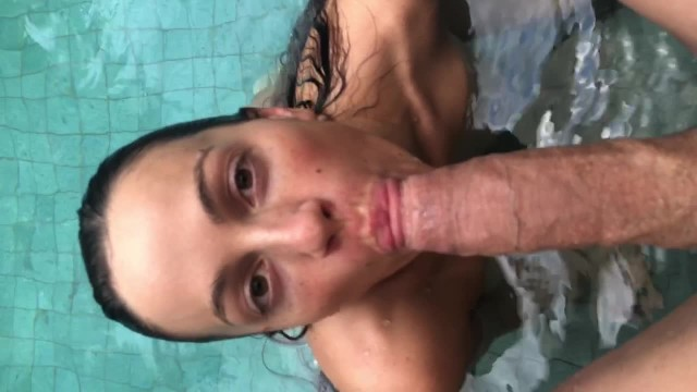 I Welcomed Him To Paradise With A Blowjob In The Pool