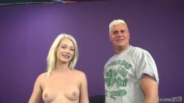 Adorable Alabama Teen Aubry Gold Spins on Porno Dan's Rod