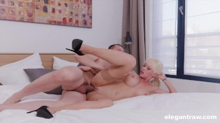 Gorgeous MILF Rides a HUGE Cock During Interview