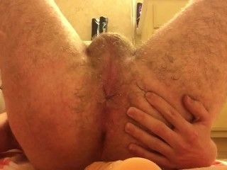 Pounding Cum into my Gaping Ass Hard