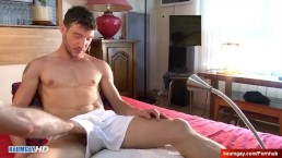 Handsome guy's dickn and ass massage ! (hetero male seduced for gay porn)