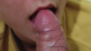 Sloppy Foreskin PlayTeasing Tongue Blowjob