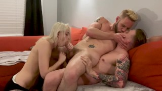 Bi Guys Fuck Best! Double Penetration Bareback Threesome