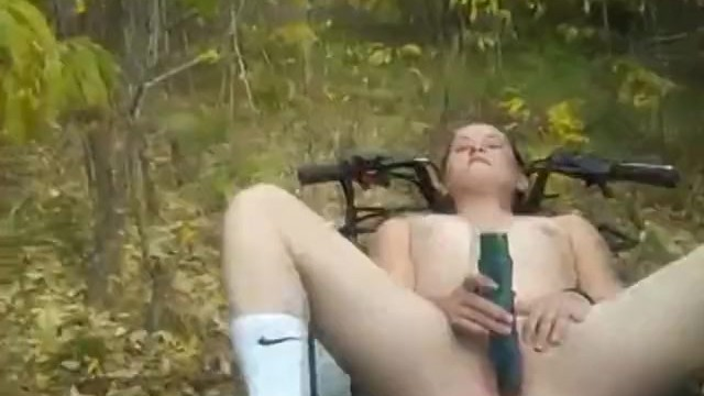 Country girl fucked outdoors on a four wheeler