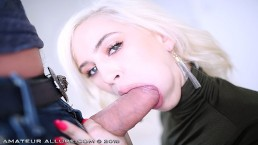 Banker is Open For a Big Deposit in Her Pussy & Mouth