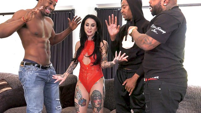BBC Slut Joanna Angel Enjoys Interracial Gangbang And DP