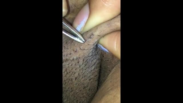 Bondage pubic plucking Plump pubic pussy pluck