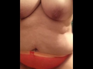 Lace Panty Piss Mature MILF Messy Hanging Tits