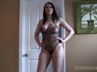 POV Cum Feeding And CEI Femdom Porn