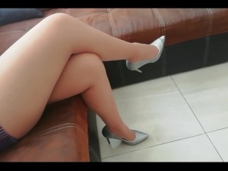 Nylon soles/mother/teaser sexy nylon feet