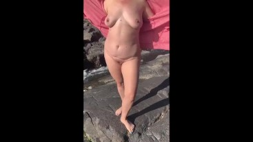 Island in Middle of River - Nude Exploration & Pelican Flypast