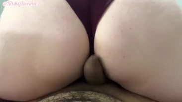 Dry humping my boyfriend again (Big cumshot) Close up POV