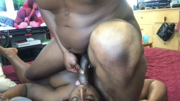 Daddy cumming in my mouth