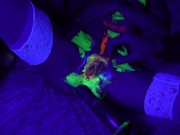 Playing with glow paint Having contracting orgasms with a surprise ending!