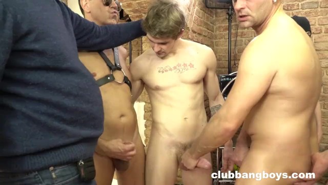 Latin gay gang bang Gang bang bareback party everybody cums