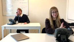 Secretary and Boss Enjoy Healthy Working Relationship