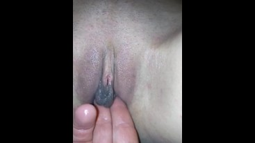 Having my pussy rubbed and getting wet