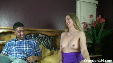 Amateur Lacy licks asshole for the first time
